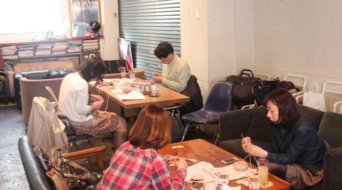 3/22(14')ニットカフェ@OnEdrop Cafe.開催レポート