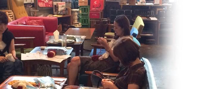 もう冬支度!8/23(土)ニットカフェ@OnEdrop Cafe.開催レポート♪