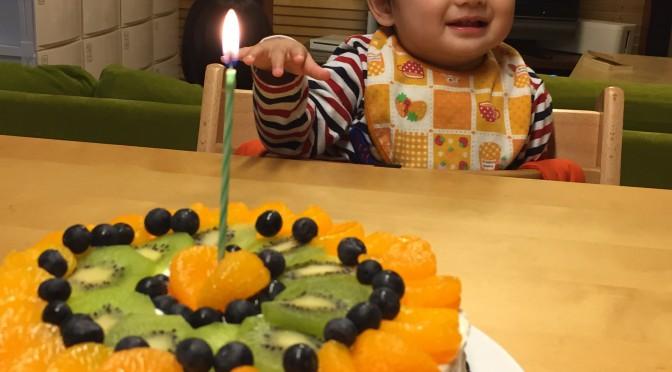 次男1歳の誕生日。