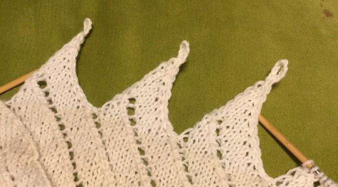 ブランケットの縁編み・改