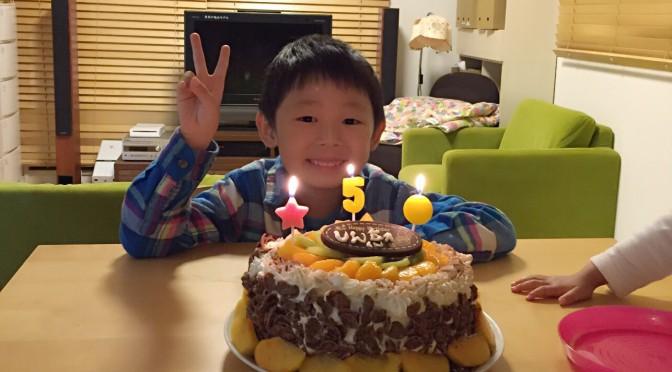 長男5歳誕生日でした。ふわふわスポンジケーキレシピ付き♪
